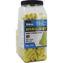 451 Yellow Wing-Nut 225 Count Jar