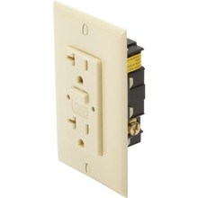 20 Amp Circuit Guard GFCI Receptacle - Tamper Proof - Ivory