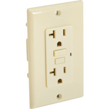 20 Amp GFCI Duplex Receptacle with End-Of-Life Indicator - Ivory - Package Of 12