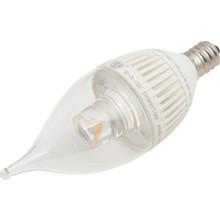 LED Bulb Feit 4.8W Dimmable Clear Flame, 3000K, Candelabra Base