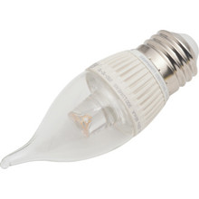 LED Bulb Feit 4.8W Flame (40W Equivalent) 3000K Clear Dimmable