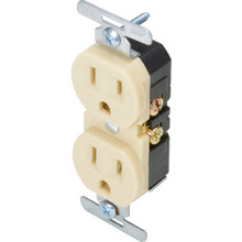 15 Amp Duplex Wall Recptacle, Package of 10