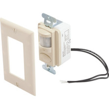 Dual Tech Occupancy Sensor - Infrared and Microphonics - Ivory
