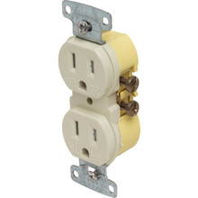 15 Amp Duplex Tamper Resistant Receptacle - Ivory