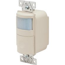 Occupancy Sensor,Passive Infrared,120 V 500W,Night Light, Ivory
