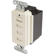 15A 4 Port USB Charging Receptacle - White