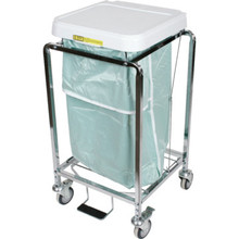 """R and B Wire Hamper Bag Leakproof 19""""W x 34""""L Green"""