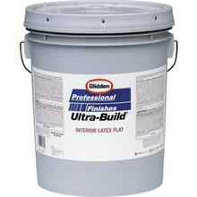 5 Gallon Glidden Ultra-Build Latex Flat Wall Paint - White