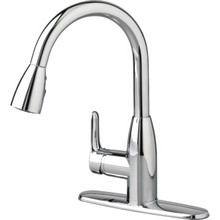 American Standard Colony Soft Kitchen Faucet Chrome Single Handle Pull-Down