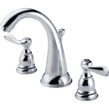 Delta Windemere Widespread Lavatory Faucet Chrome Two Handle With Pop-Up