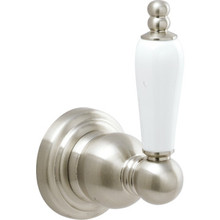 Seasons Abbington Brushed Nickel Robe Hook Concealed Mount