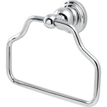 Seasons Abbington Chrome Towel Ring