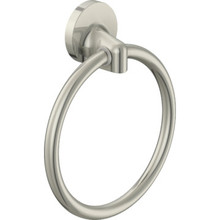 Aspen Brushed Nickel Towel Ring