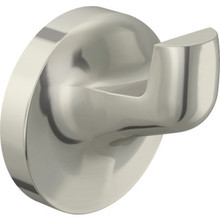 Aspen Brushed Nickel Single Robe Hook