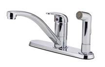 Pfister Pfirst Series Kitchen Faucet Chrome Single Handle With In-Deck Spray
