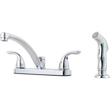 Pfister Pfirst Series Kitchen Faucet Chrome Two Handle With Spracy