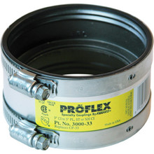 "Fernco Flexible Proflex Coupling For Cast Iron Pipe Connection 3"" x 3"""