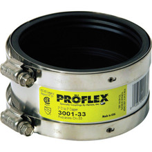 "Fernco Flexible Proflex Coupling For Copper Pipe Connection 2"" x 2"""