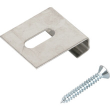 """J"" Mirror Clip With Screws Package Of 25"