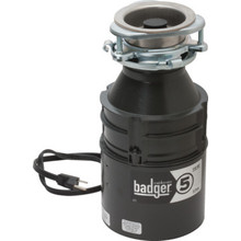 1/2 HP In-Sink-Erator Badger 5 Disposer With Installed Power Cord