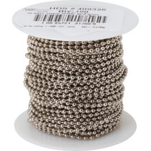 100' #6 Nickel Plated Steel Chain
