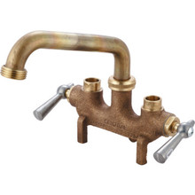 Central Brass Laundry Faucet Rough Cast BrassTwo Handle