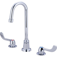 Central Brass Gooseneck Lavatory Faucet Chrome Two Handle