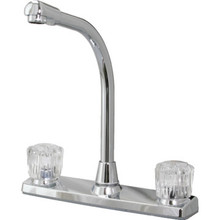 Aspen Kitchen Faucet Arcylic/Chrome Two Handle High-Rise Spout