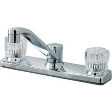 Aspen Kitchen Faucet Acrylic/Chrome Two Handle