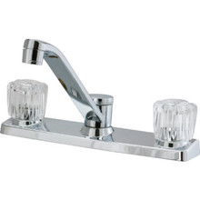Aspen Kitchen Faucet Acrylic/Chrome Two Handle With Spray