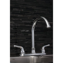 Aspen Kitchen Faucet Chrome Two Handle High-Rise Spout