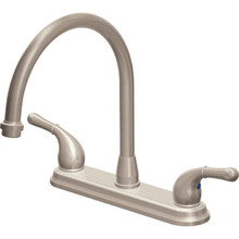 Seasons Raleigh Kitchen Faucet Brushed Nickel Two Handle