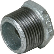 "Galvanized Malleable Hex Bushing 3/4"" x 1/2"""