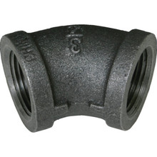 "Black Malleable 45 Elbow 1/2"" x 1/2"""