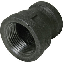 "Black Malleable Reducing Coupling 3/4"" x 1/2"""