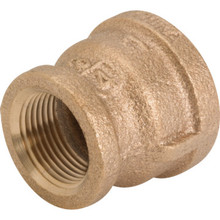 "Brass Reducing Coupling 3/4"" x 1/2"""