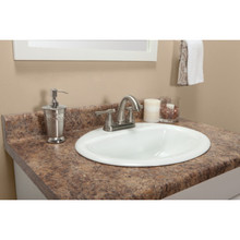 "22-1/2""D x 4'L Butterum Matte Vanity Countertop"