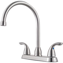 Pfister Pfirst Series Kitchen Faucet Stainless Steel Two Handle