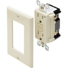 15 Amp Circuit Guard LED GFCI Receptacle - Ivory