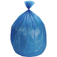 33 Gallon 14 Mic Blue High Density Trash Bag Case Of 250