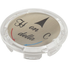 Delta-Peerless Clear Hot/Cold Index Button