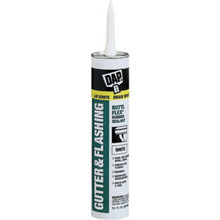 10.1 Oz DAP Butyl-Flex Gutter And Flashing Sealant - White 12/Cs