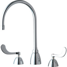 Chicago Faucets Widespread Lavatory Faucet Chrome Two Handle