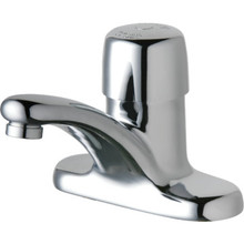 Chicago Faucets Metering Faucet ChromeSingle Handle