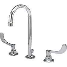 American Standard Monterrey Widespread Gooseneck Lav Faucet Chrome Two Handle