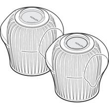 Kohler Hot/Cold Faucet Handle Acrylic 2Pk