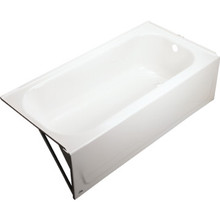 Bootz Maui Bathtub Right Hand Drain Enameled Steel Deep Soaker