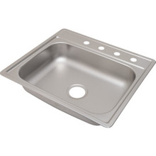 "Aspen 22 X 25"" Single Bowl Kitchen Sink Stainless Steel 4 Hole 6"" Depth"