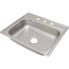 "Aspen 22 X 25"" Single Bowl Kitchen Sink Stainless Steel 3 Hole 6"" Depth"