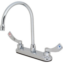 Moen Commercial Kitchen Faucet Chrome Two Handle